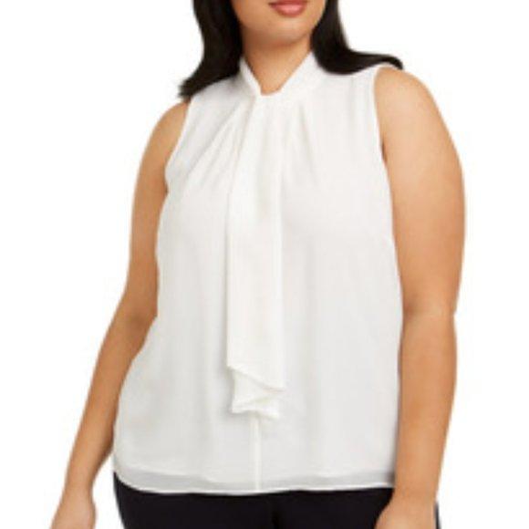 Calvin Klein Plus Size Sleeveless Crew Neck Top